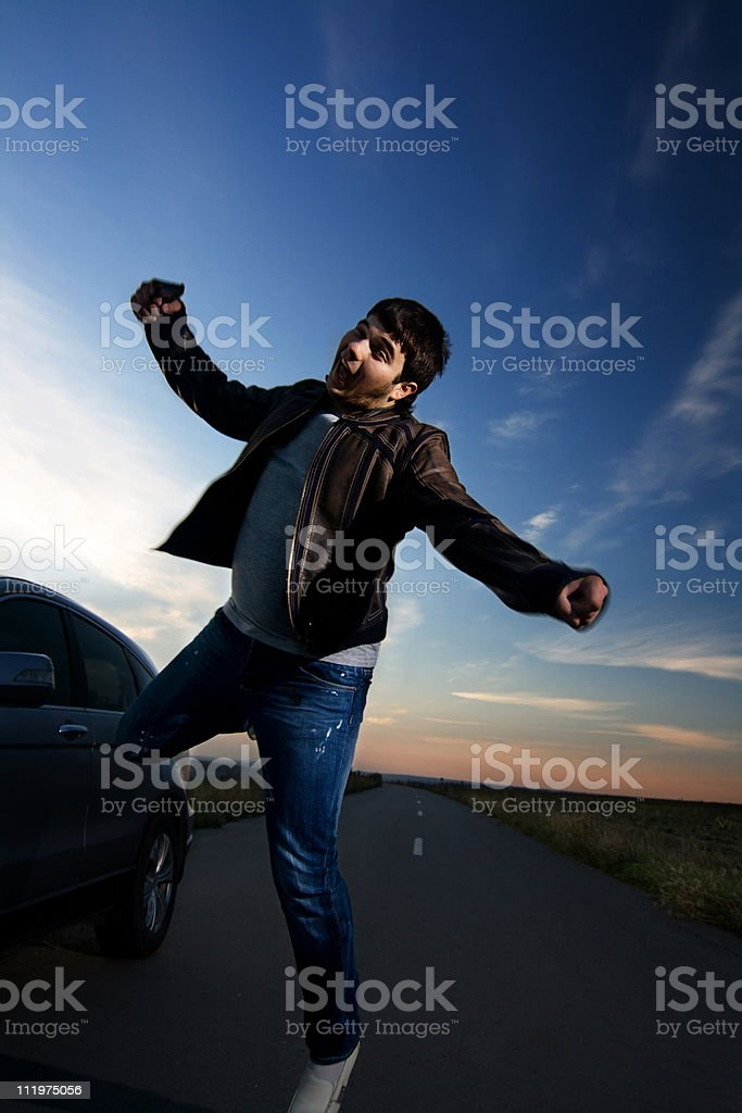 Unforeseeable man stock photo