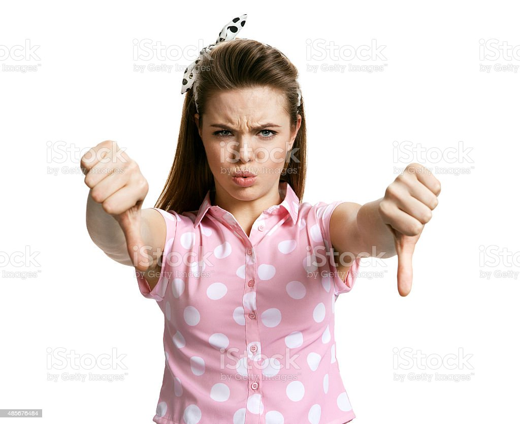 Unhappy angry mad pissed off woman, annoyed wife stock photo