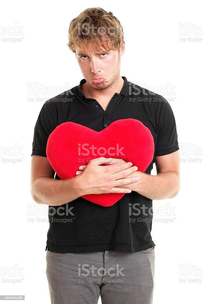 Unhappy broken heart valentines day man royalty-free stock photo