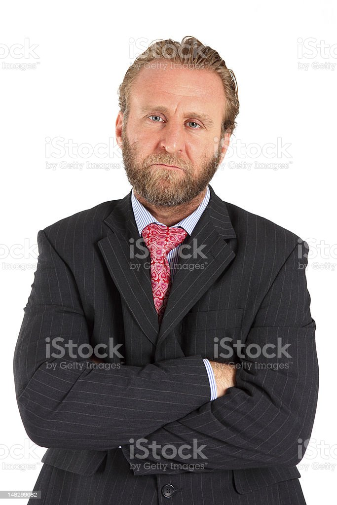 Unhappy business Man royalty-free stock photo