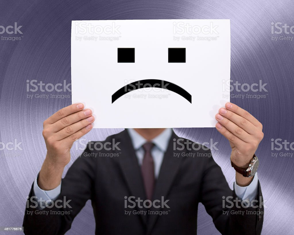 Unhappy businessman stock photo