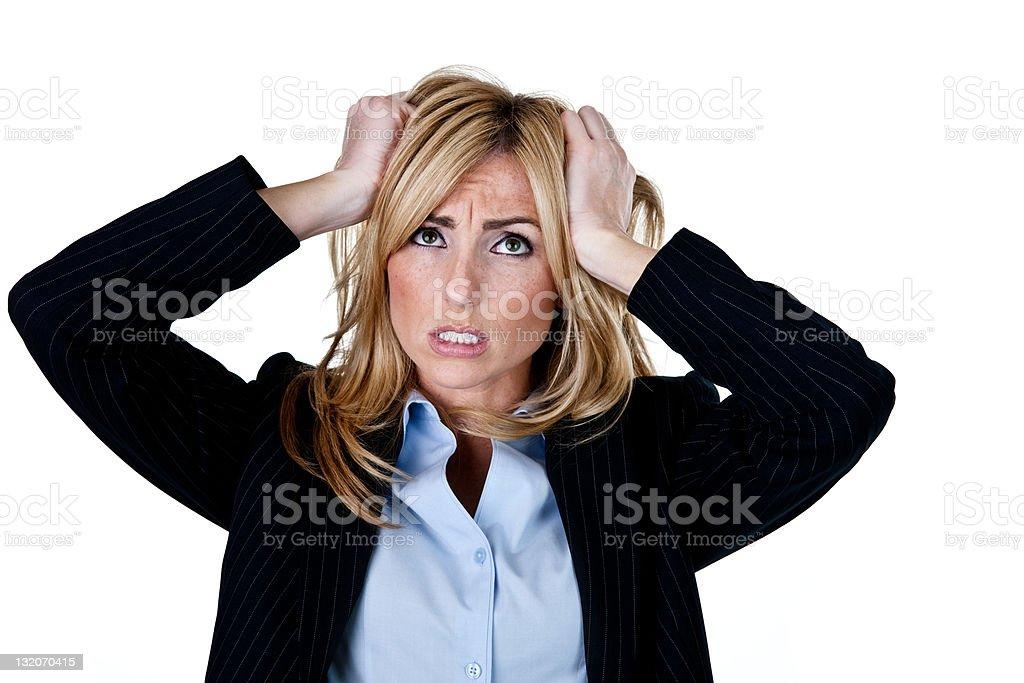 Unhappy businesswoman royalty-free stock photo
