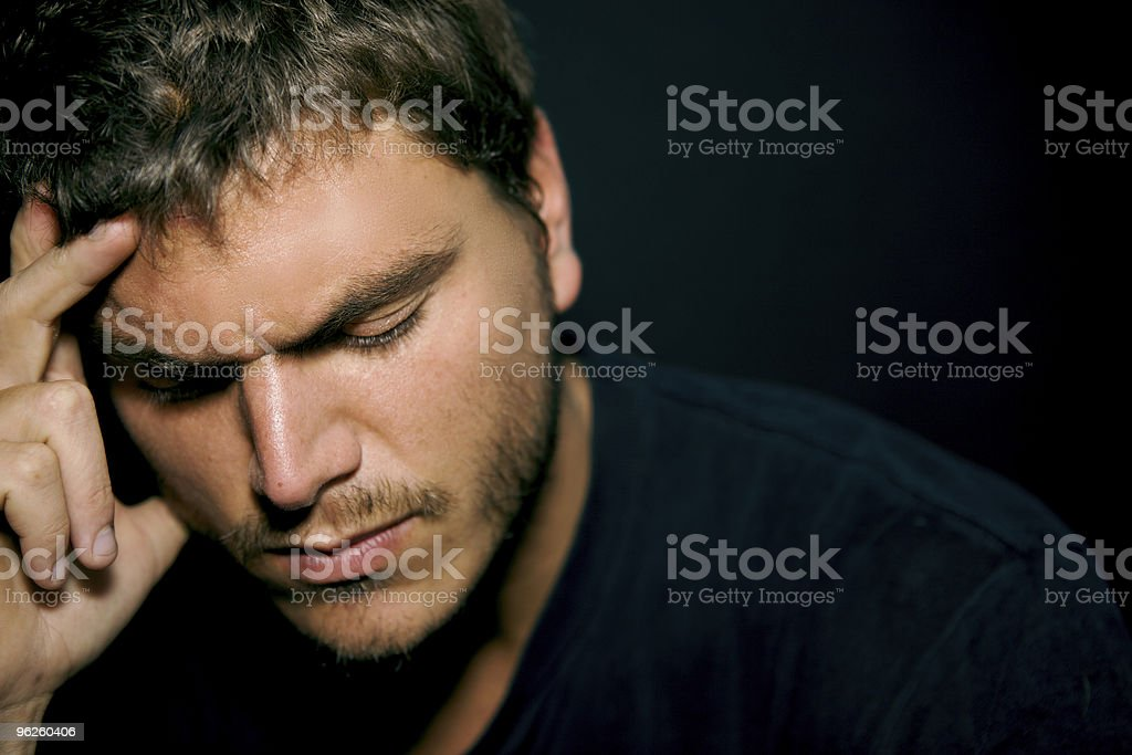 Unhappy Depressed Young Man stock photo