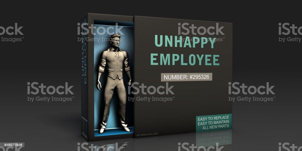 Unhappy Employee stock photo