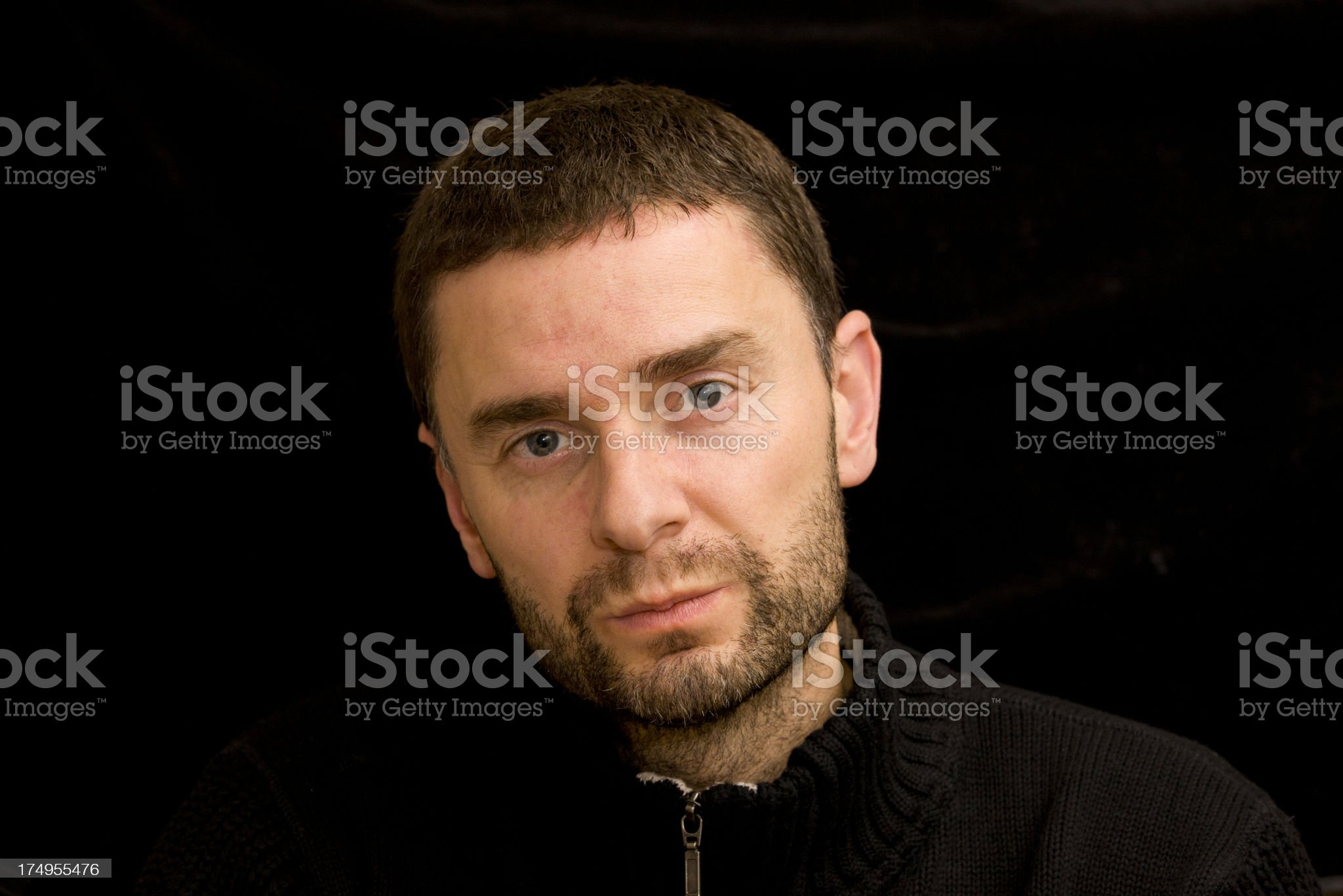 Unhappy expression royalty-free stock photo