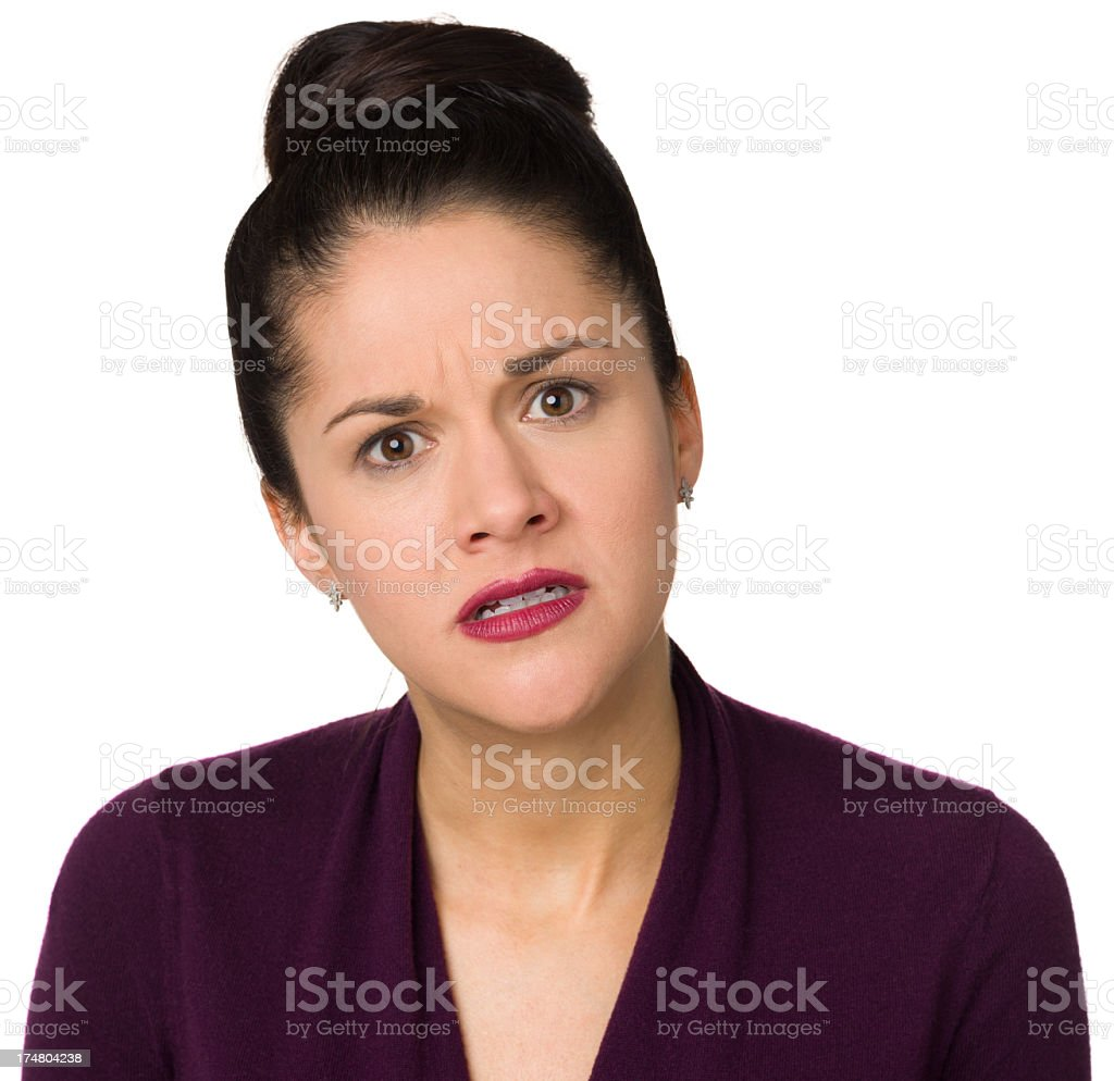 Unhappy Frustrated Woman royalty-free stock photo