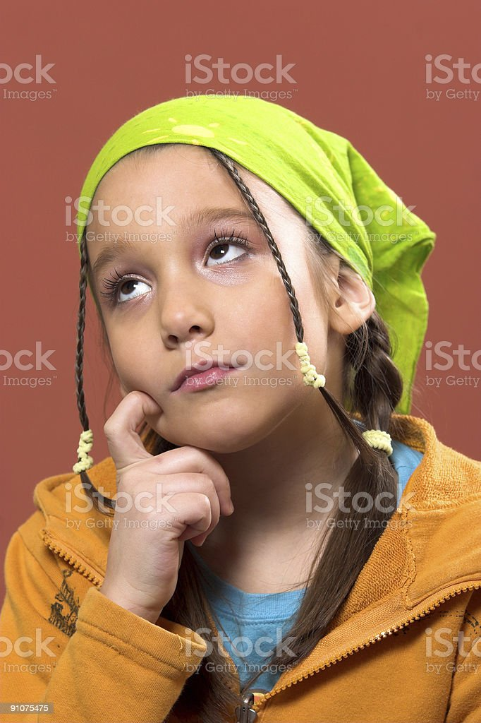 unhappy girl royalty-free stock photo