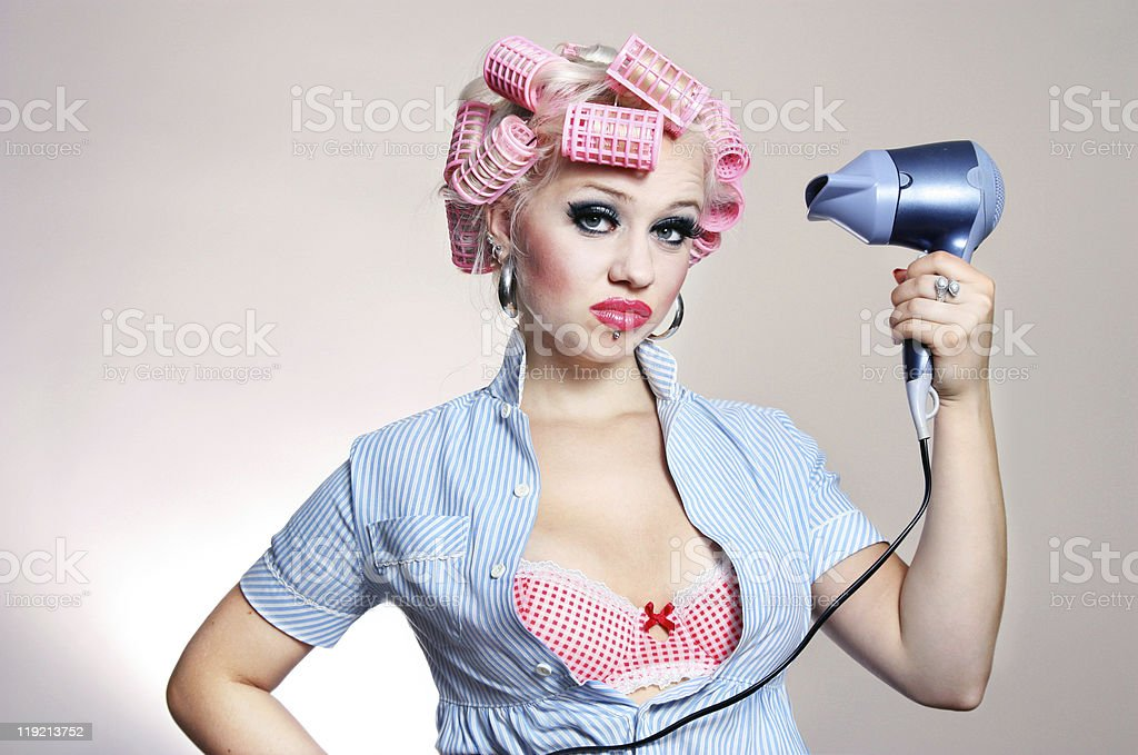 Unhappy housewife royalty-free stock photo