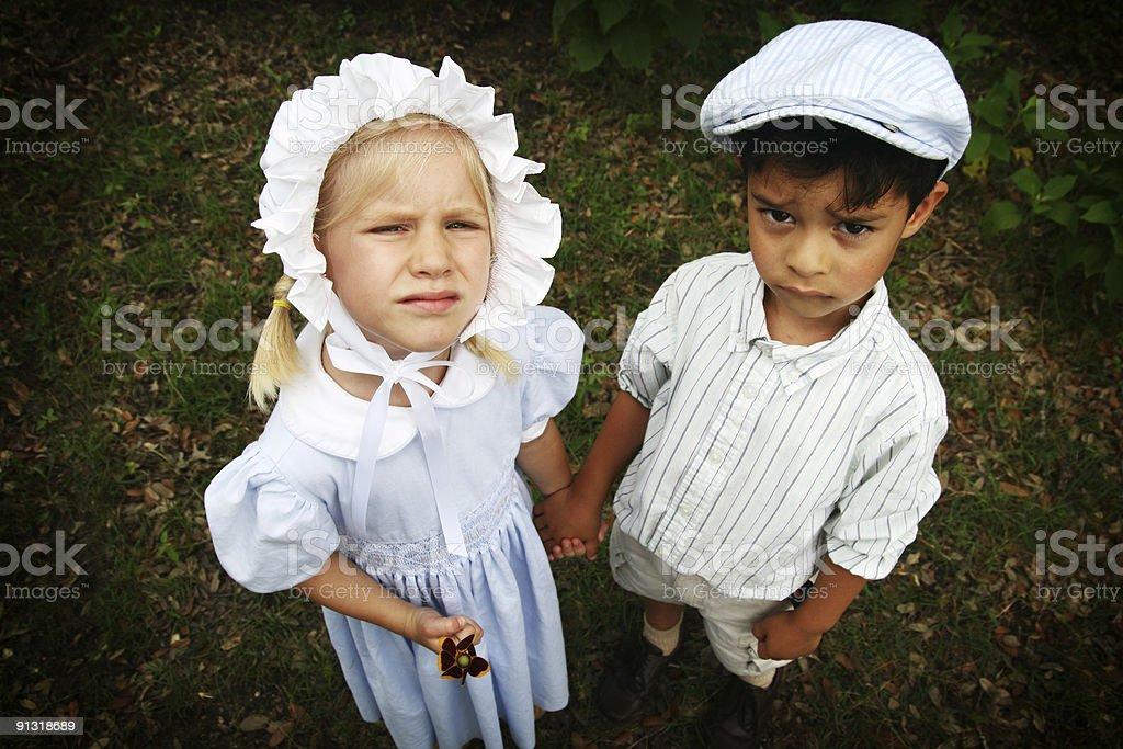 Unhappy Kids royalty-free stock photo