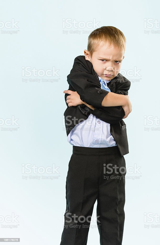 Unhappy little boy royalty-free stock photo