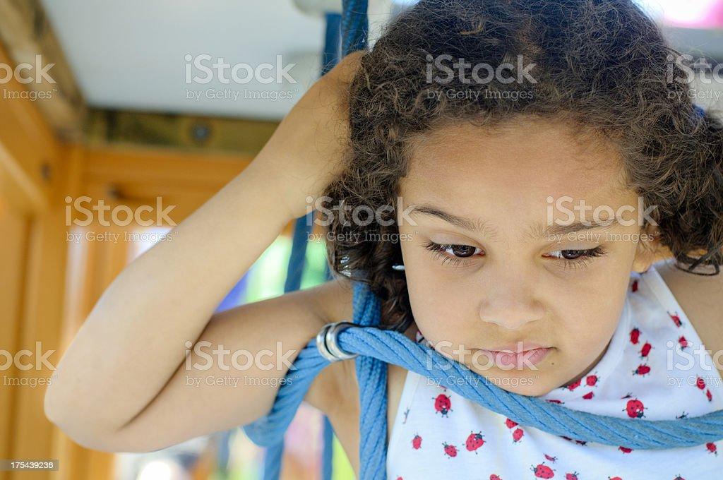 Unhappy Little Girl (5-6) royalty-free stock photo