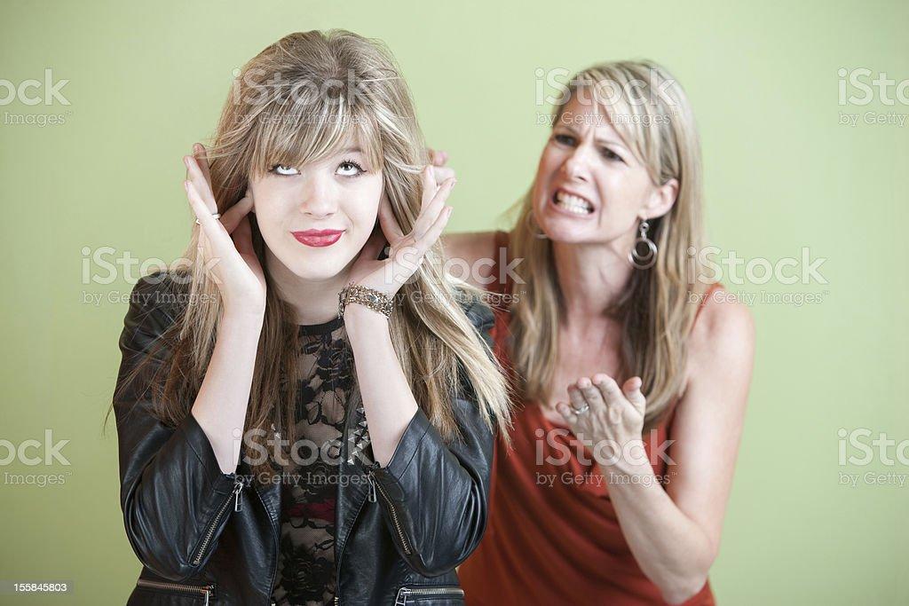 Unhappy Mom royalty-free stock photo