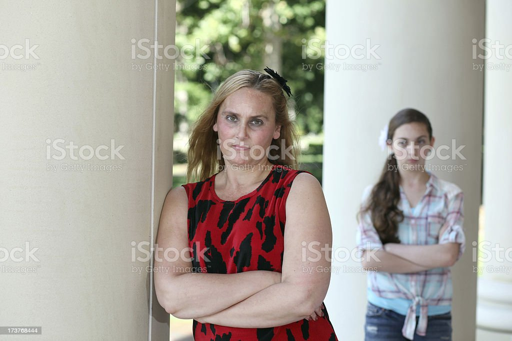 Unhappy Mother royalty-free stock photo