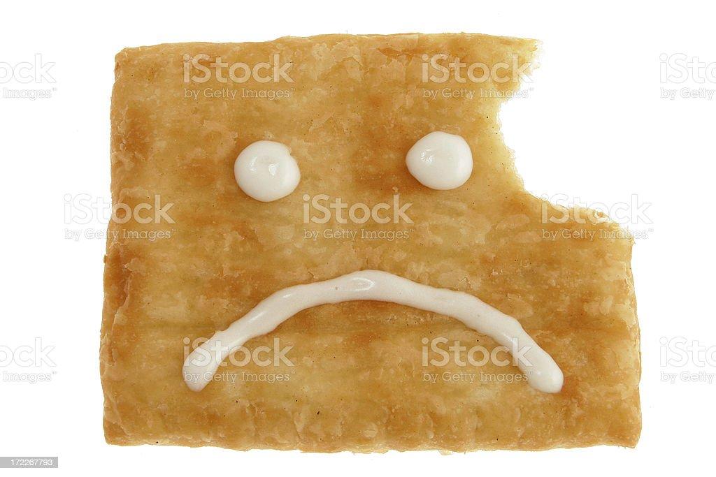 Unhappy Pastry royalty-free stock photo