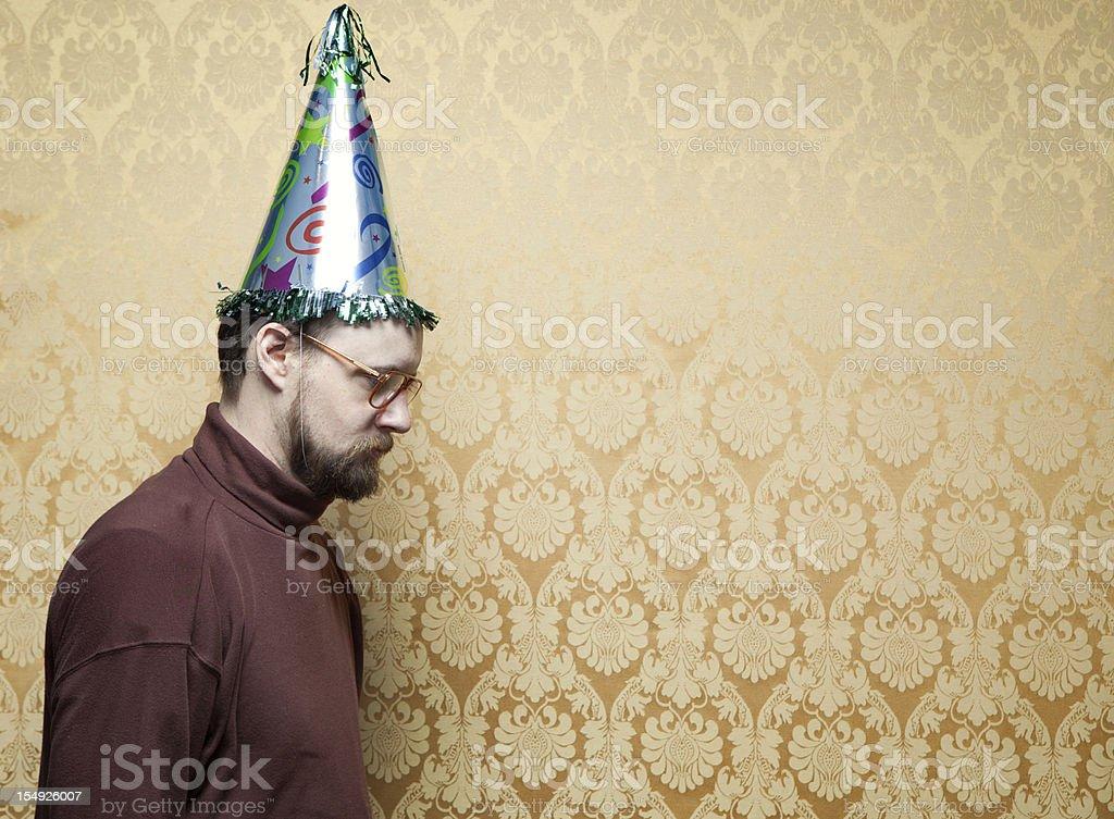 Unhappy Retro Birthday Party stock photo