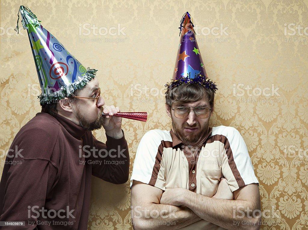 Unhappy Retro Birthday stock photo