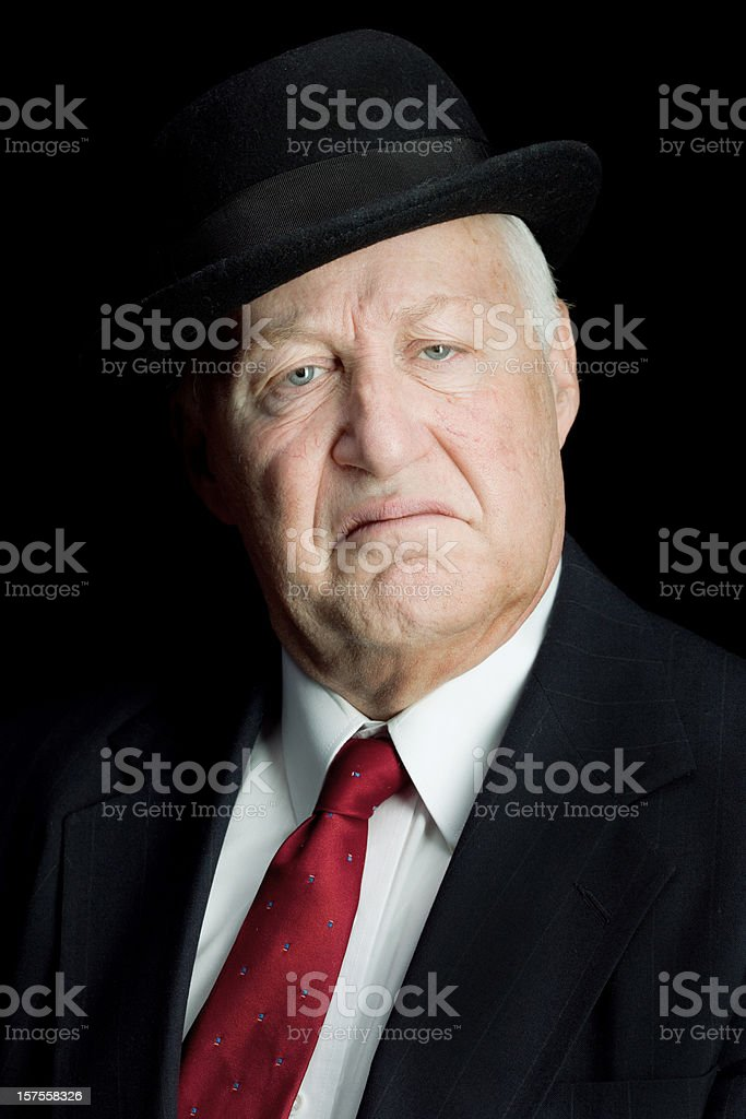 Unhappy rich old man royalty-free stock photo