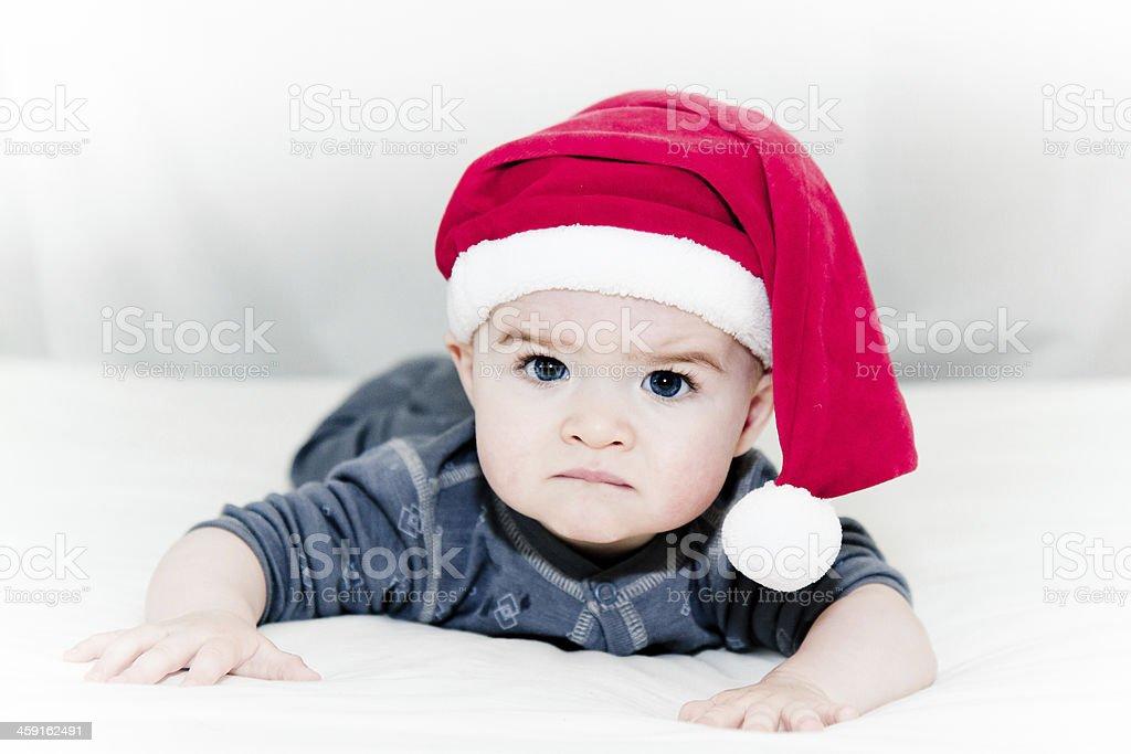 Unhappy Santa royalty-free stock photo