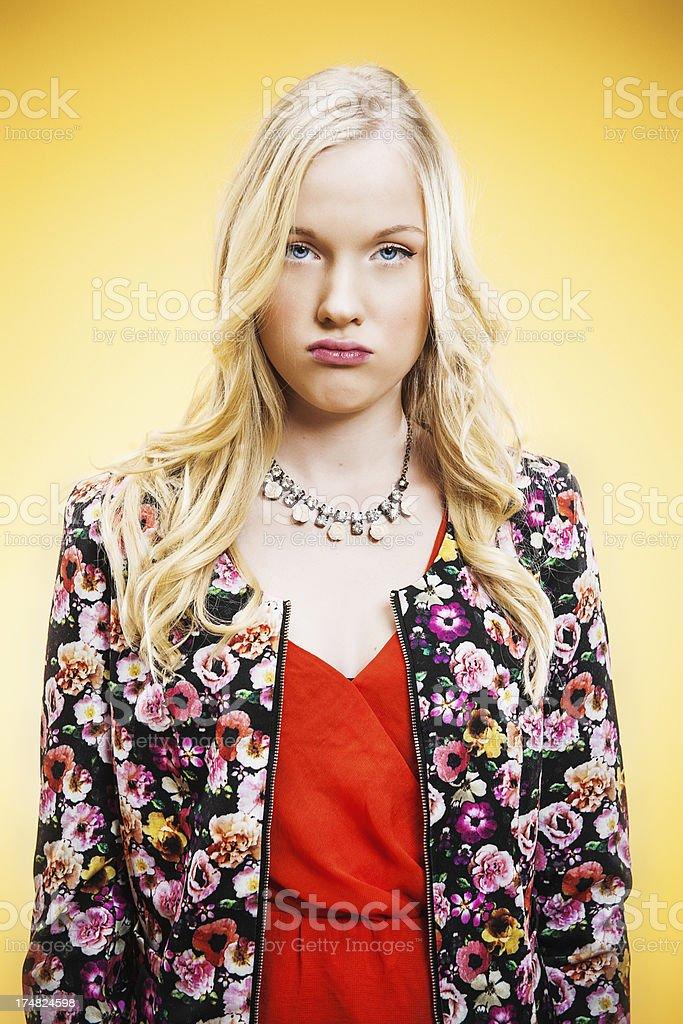 Unhappy teenager stock photo