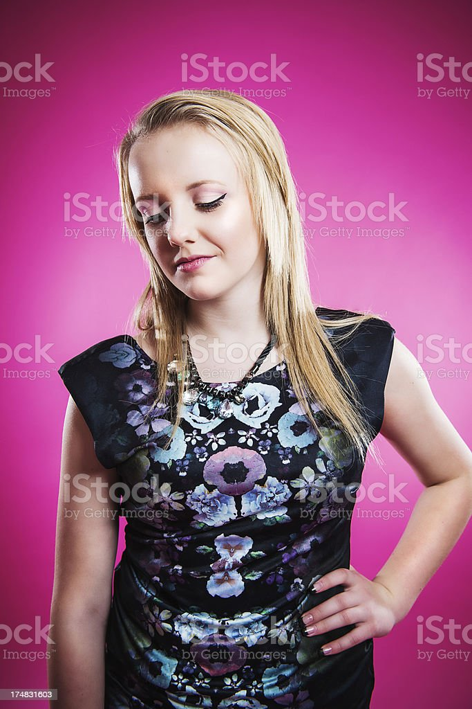 Unhappy teenager stock photo