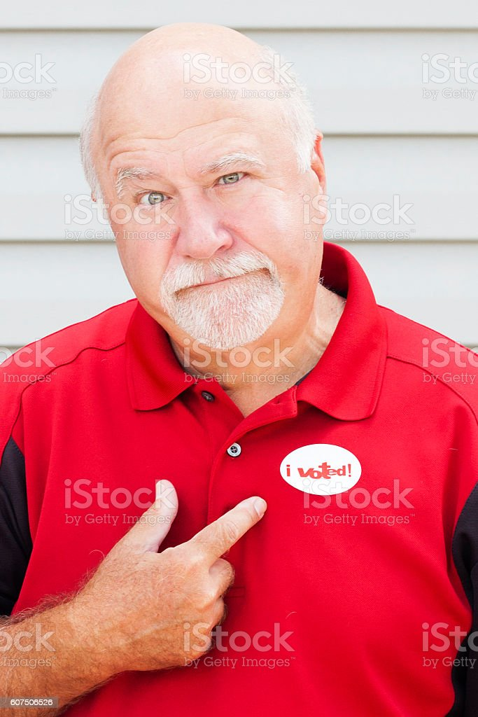 Unhappy Voter stock photo