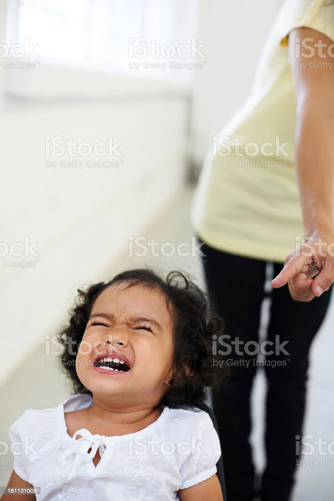 Unhappy with her mom's decision royalty-free stock photo