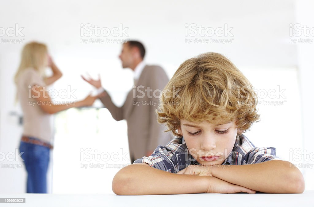 Unhappy with their arguments royalty-free stock photo