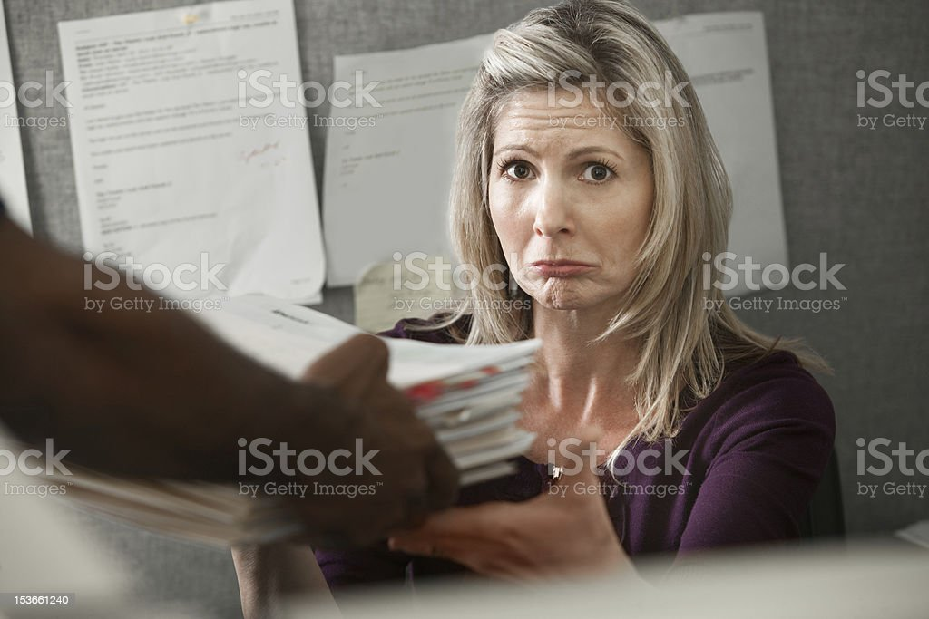 Unhappy Worker royalty-free stock photo