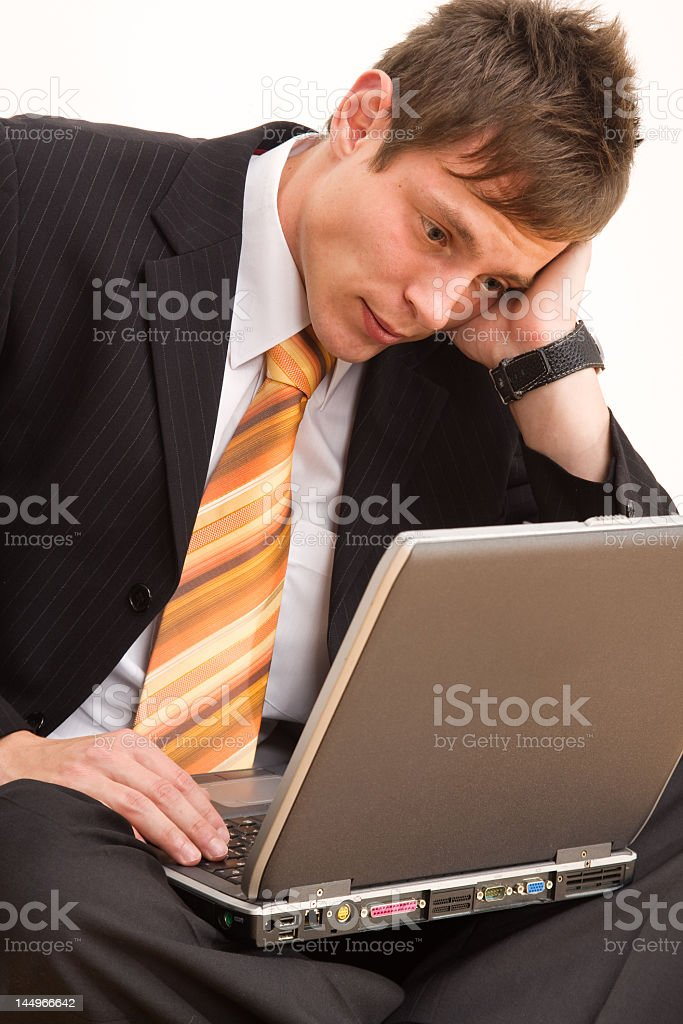 Unhappy young businessman royalty-free stock photo