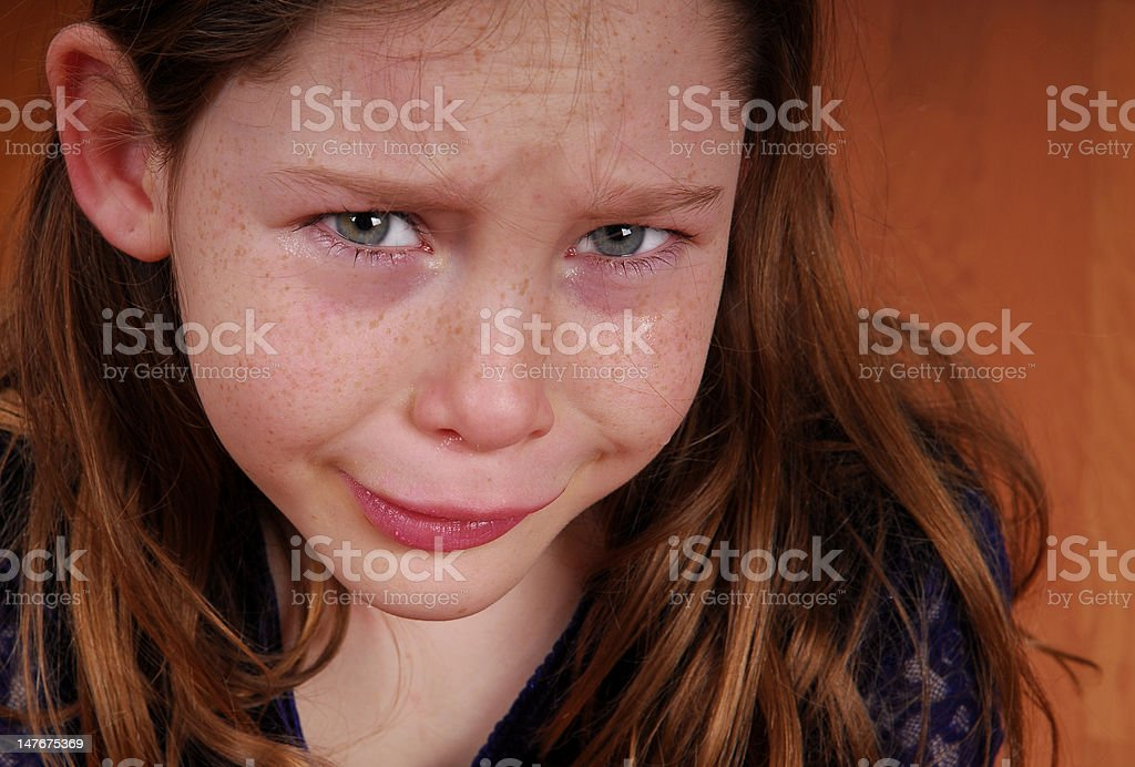 Unhappy Young Girl royalty-free stock photo