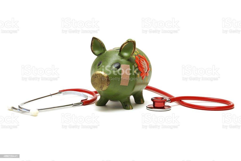 Unhealthy Bank Account stock photo