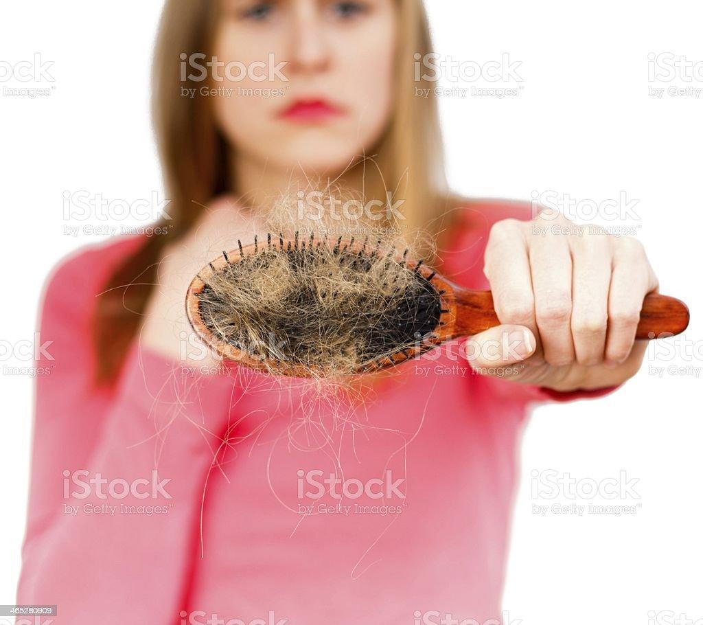 Unhealthy Hair Loss stock photo