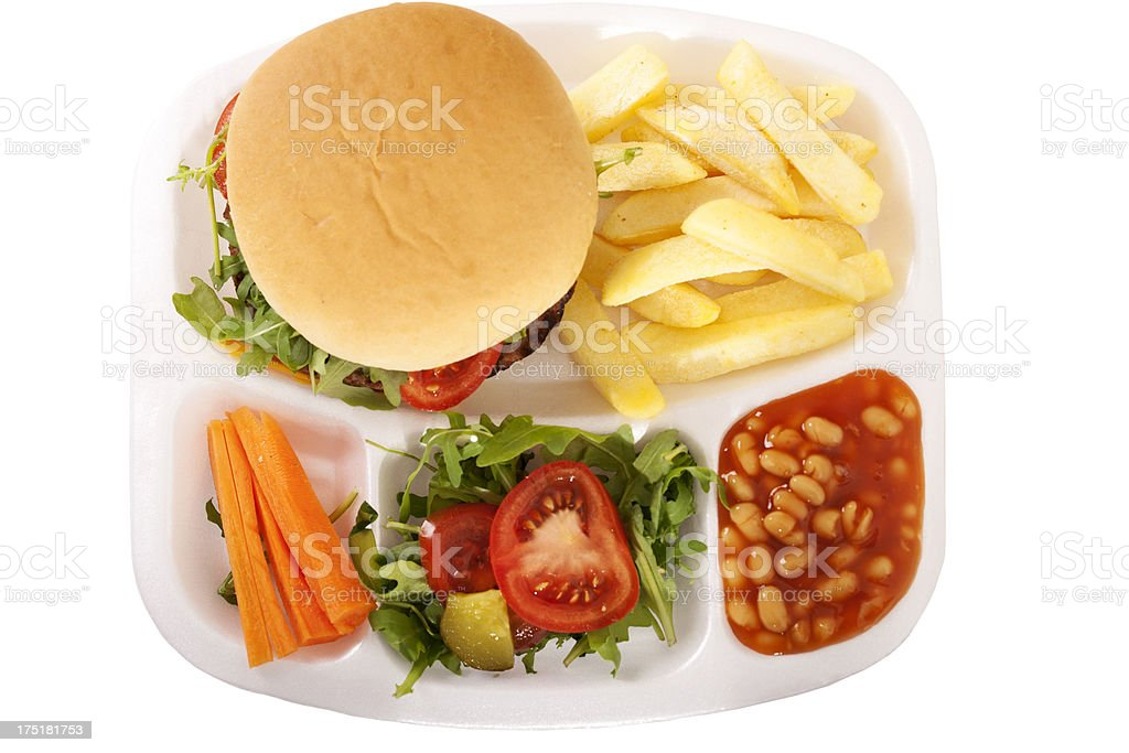 Unhealthy school lunch royalty-free stock photo