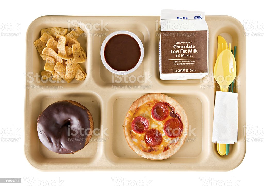 Unhealthy School Lunch stock photo