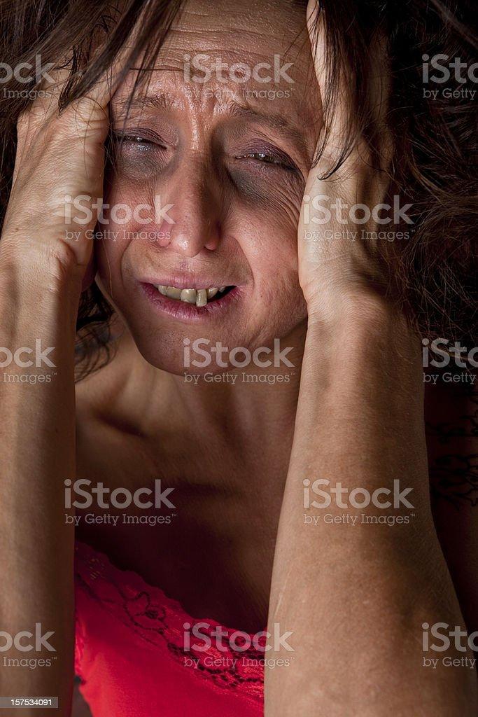 Unhealthy Woman royalty-free stock photo
