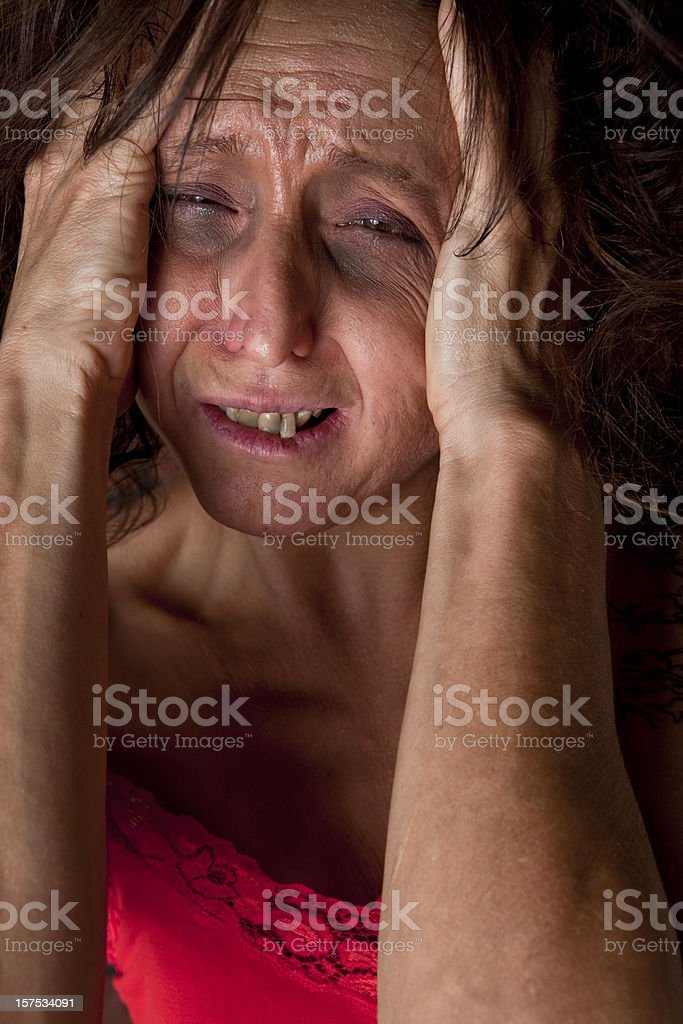 Unhealthy Woman stock photo