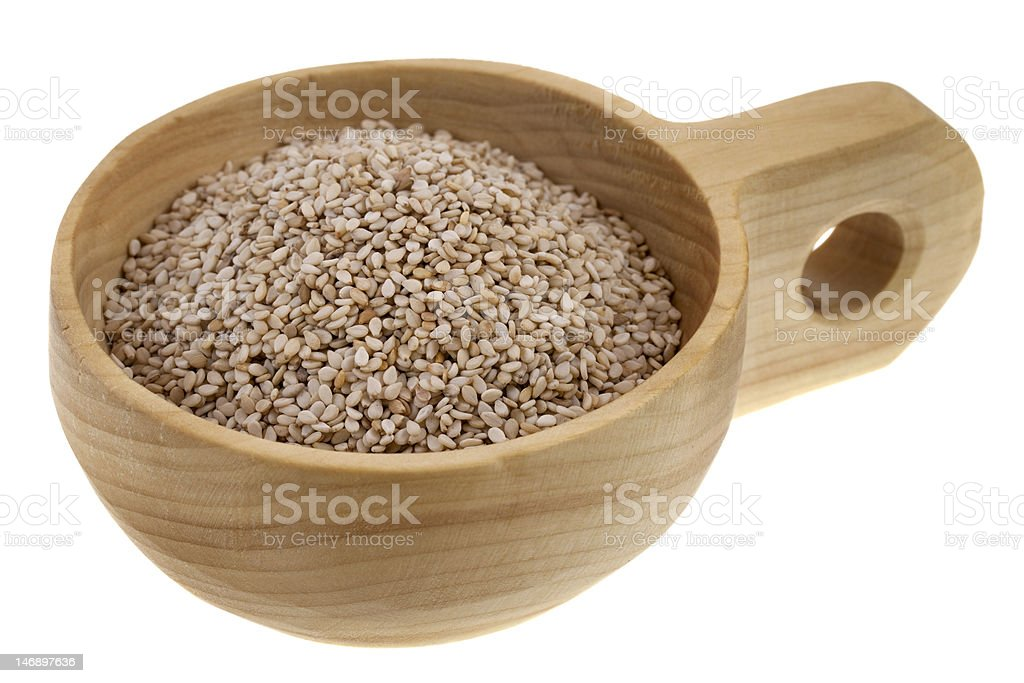 unhulled sesame seeds royalty-free stock photo