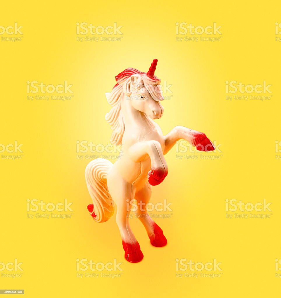 Unicorn Rearing Up stock photo
