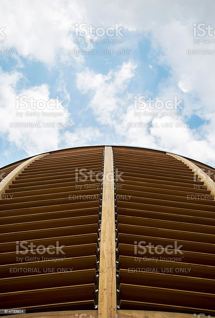 Unicredit Pavilion in Milan, Italy stock photo