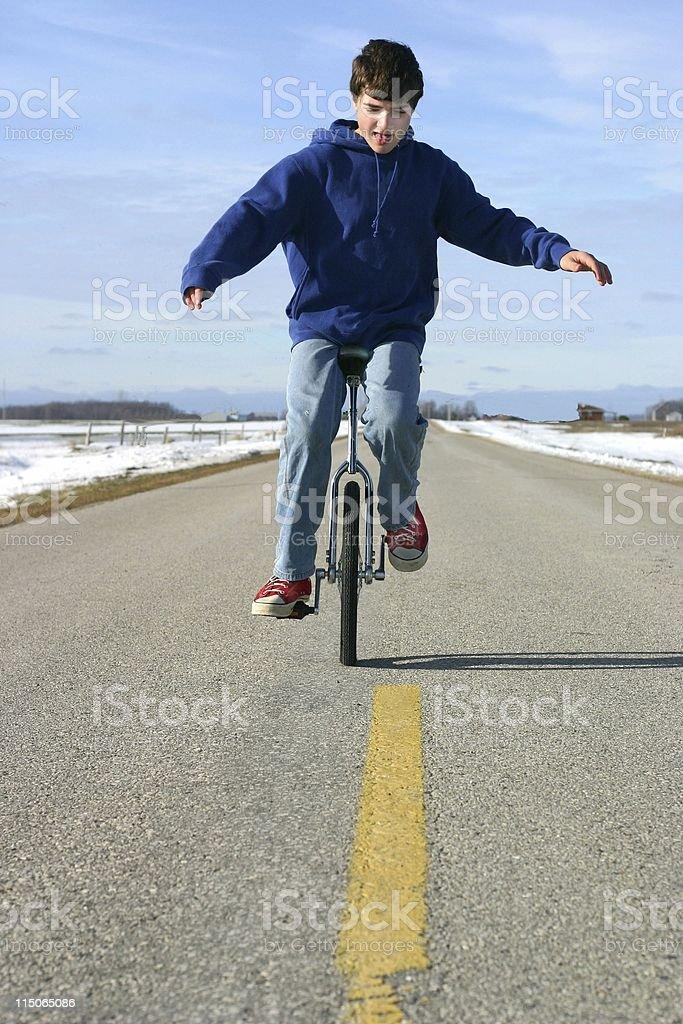 unicycle balance royalty-free stock photo