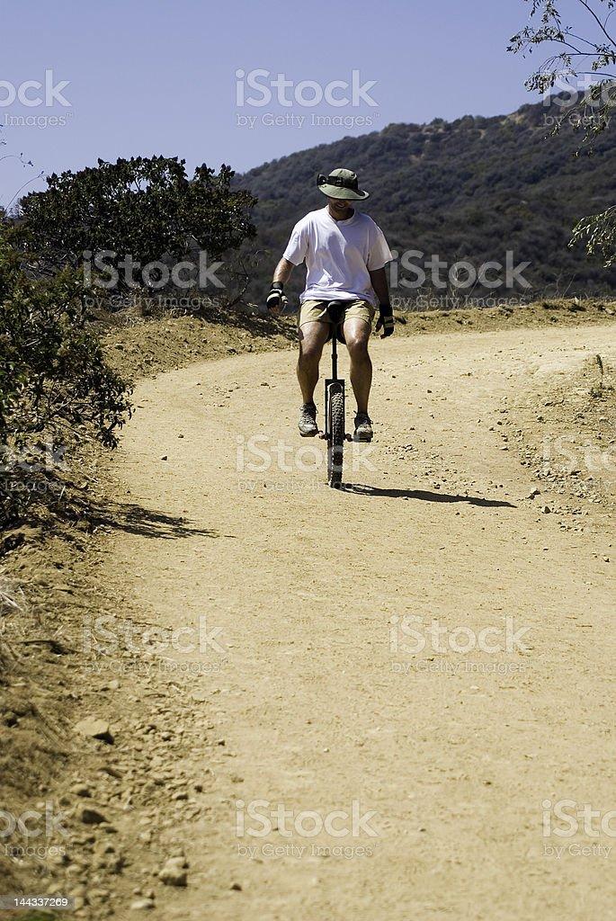Unicycle Master stock photo