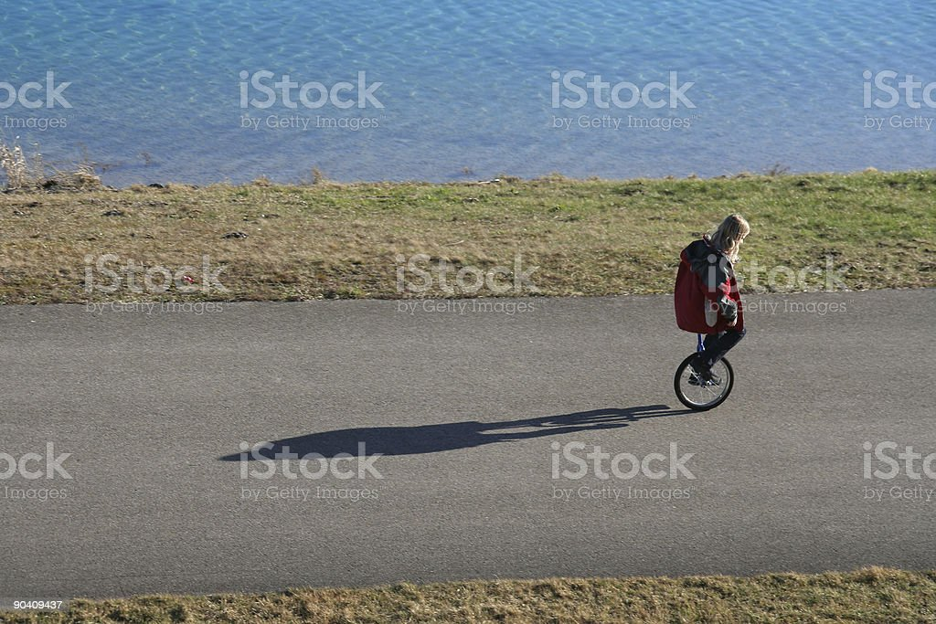 Unicycle royalty-free stock photo