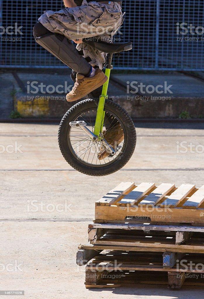 Unicycle Stunt royalty-free stock photo