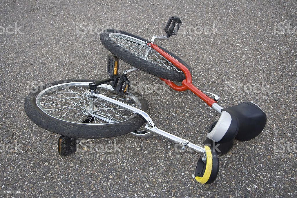 Unicycle two times royalty-free stock photo
