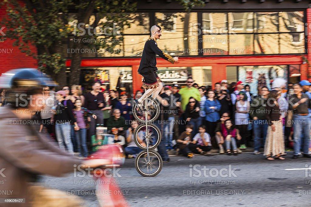 unicyclist stock photo