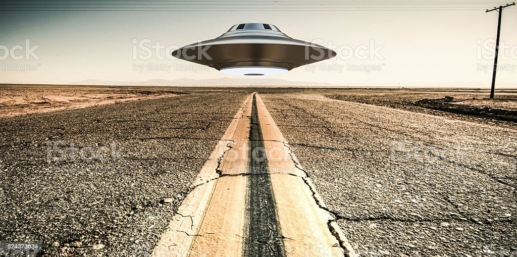 unidentified flying object stock photo