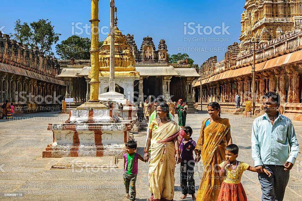 Unidentified Indian tourists visit to the famous landmark. stock photo