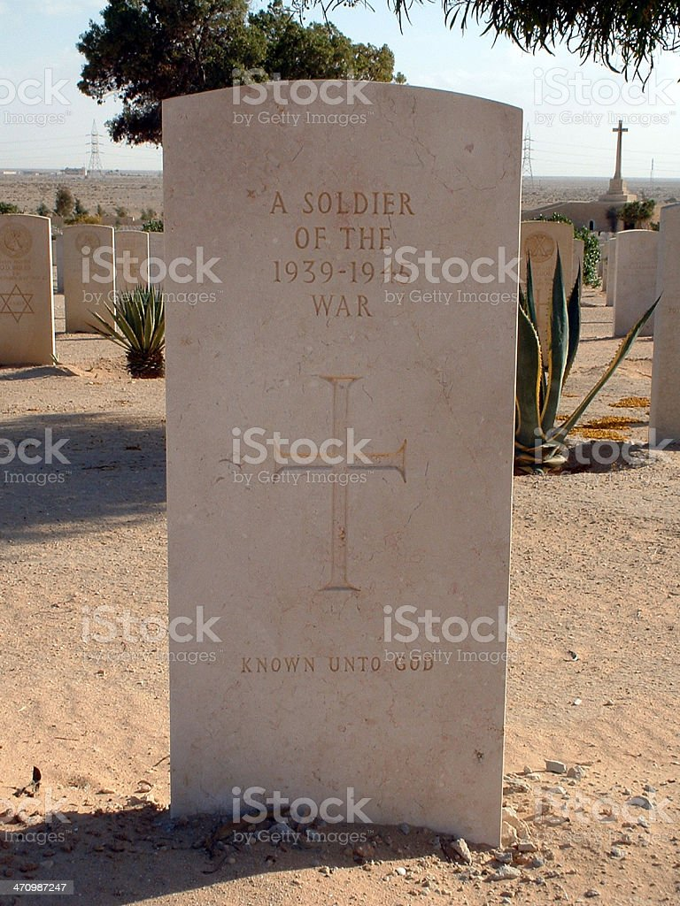 unidentified soldier (WWII) royalty-free stock photo