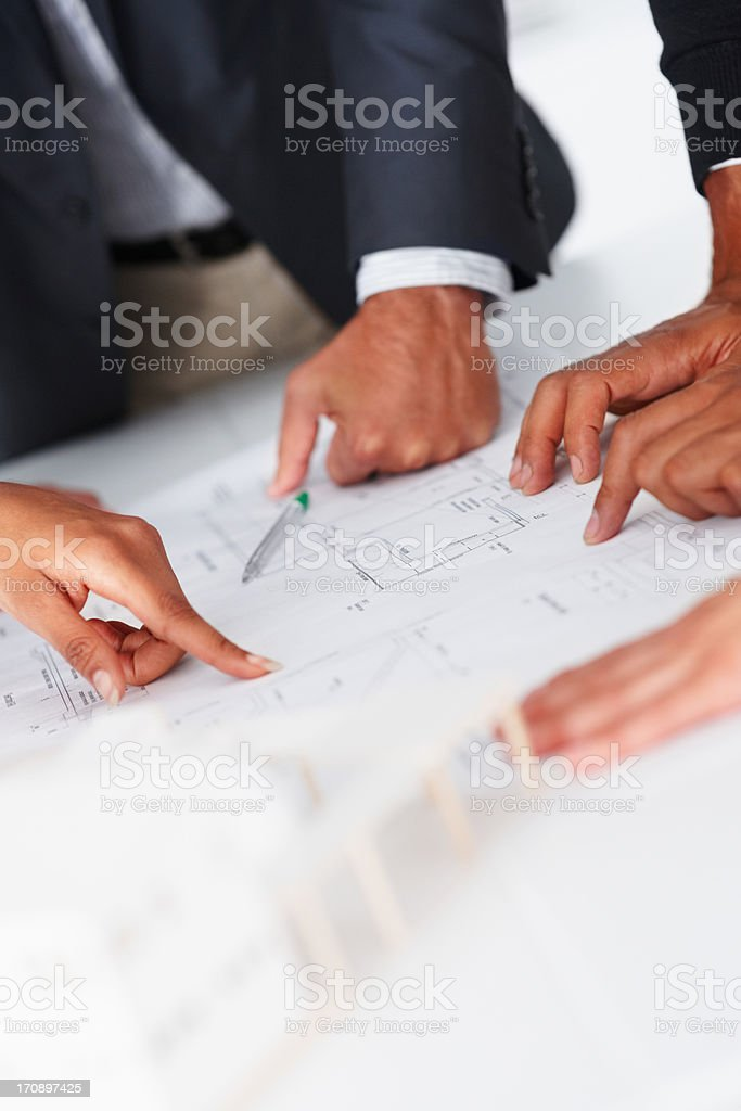 Unified in their ideas stock photo
