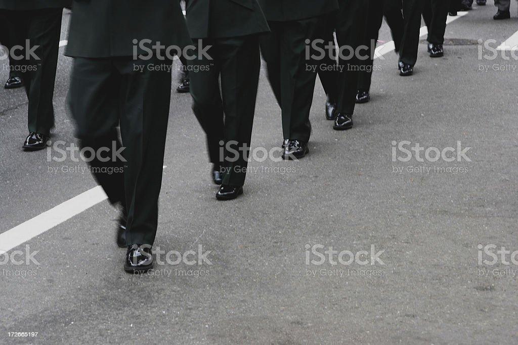 Uniform Marching royalty-free stock photo